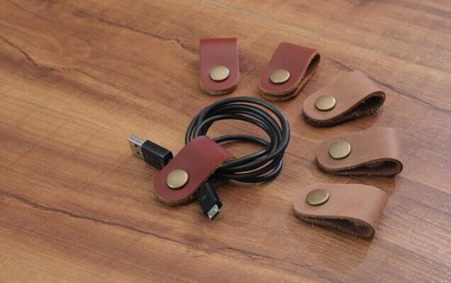 leather data cables roller
