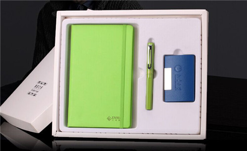 corporate gift set--notebook, pen, card holder