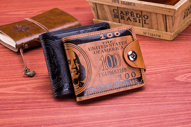 dollar pattern men's wallet